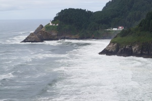 Heceta Head Lighthouse in the background