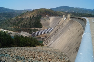 Shasta Dam is larger than Hoover Dam measured in mass
