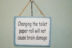 In the men's room at the Maclaren Lodge