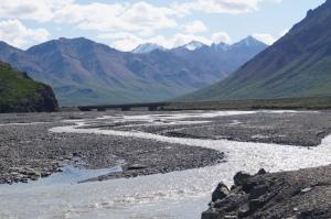 Glacier run off 'spider' rivers