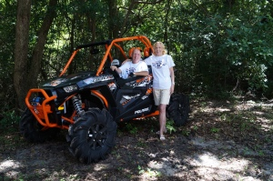 Being presented the new RZR that we won.